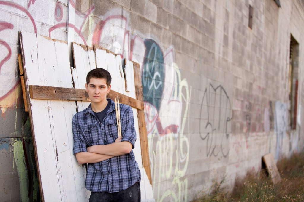 A Pallet, Graffiti and a high school senior with his sticks