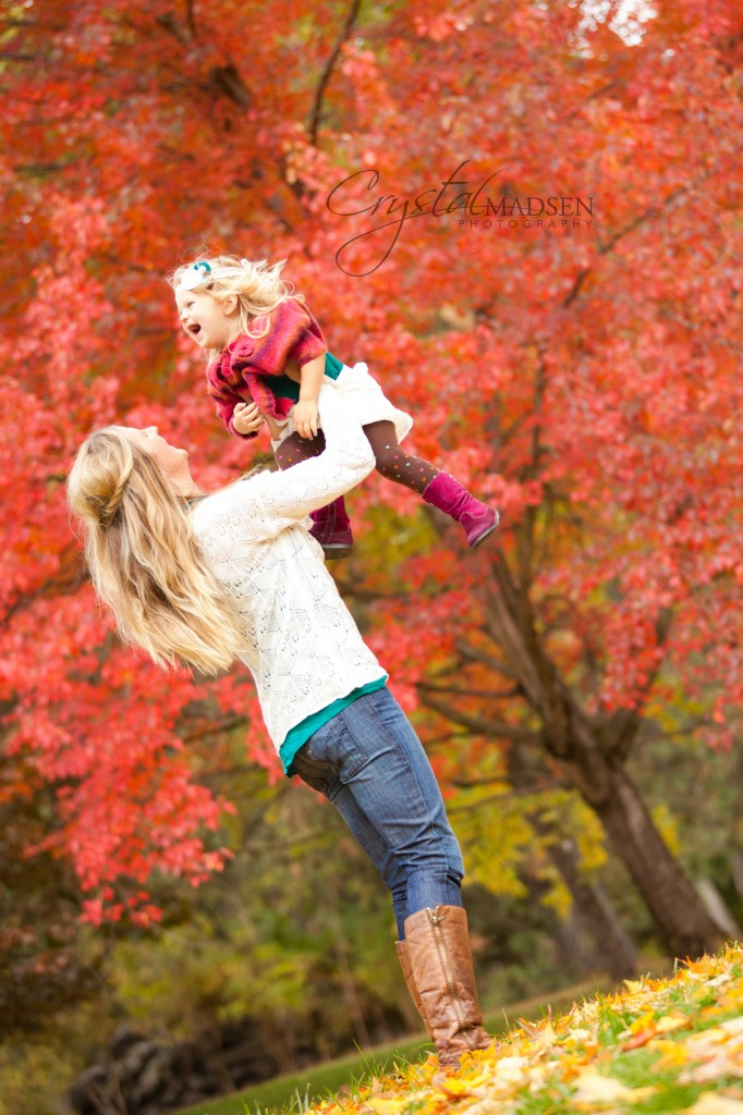 Mother and Daughter Fall Photo