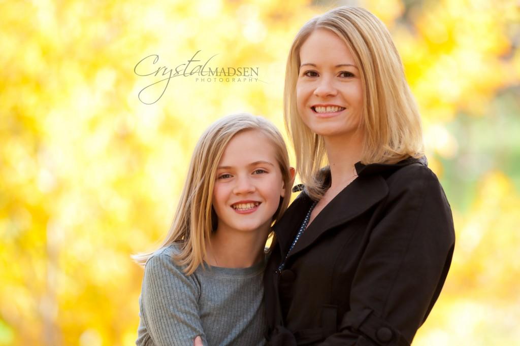 Mother and Daughter Autumn Photos