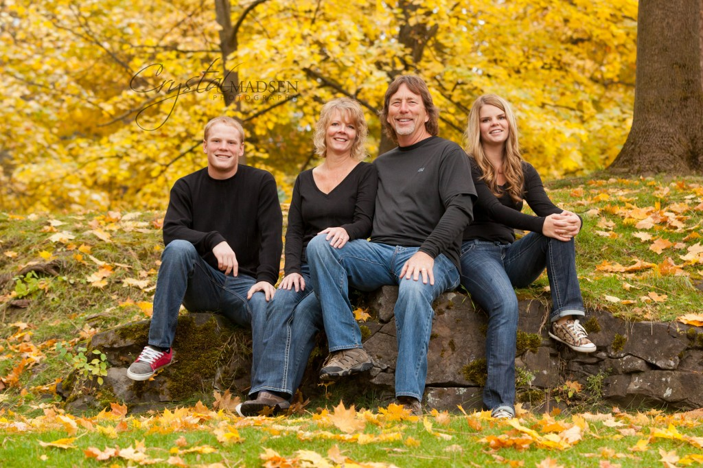 fun fall family photos in spokane crystal madsen photography