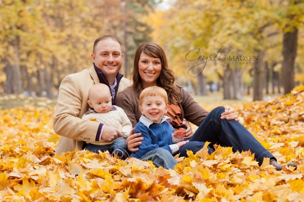Young Fall Family Photo Spokane