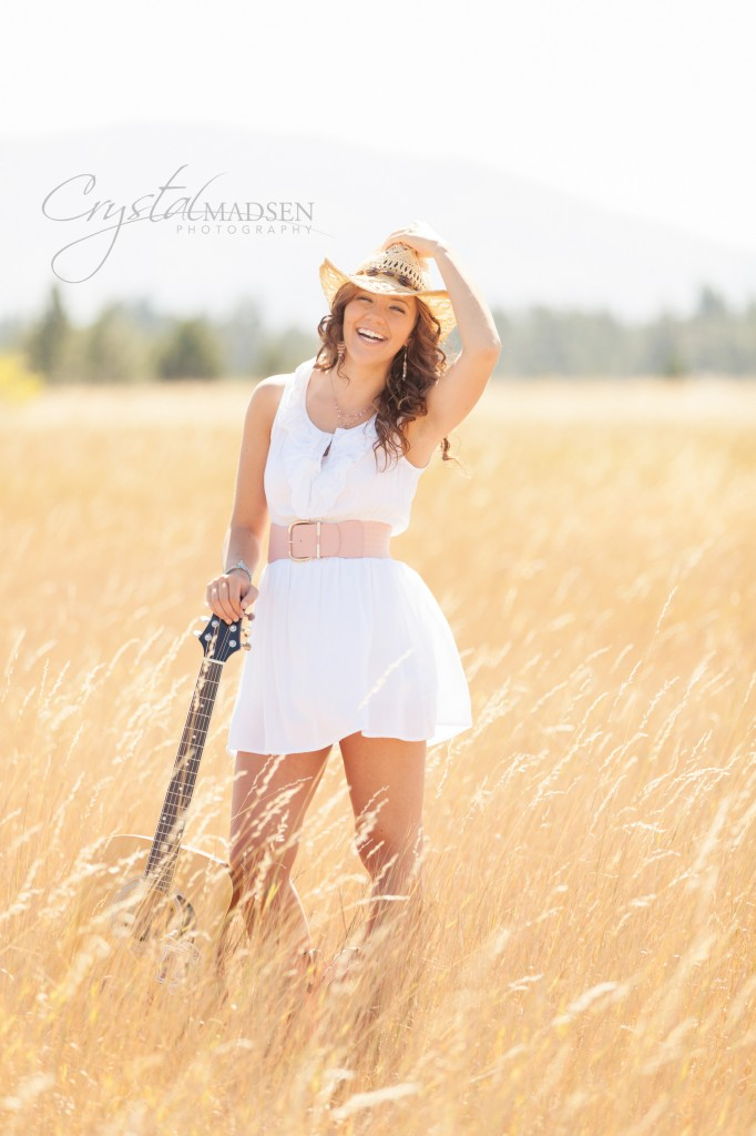 Cowgirl Guitar Senior Photo