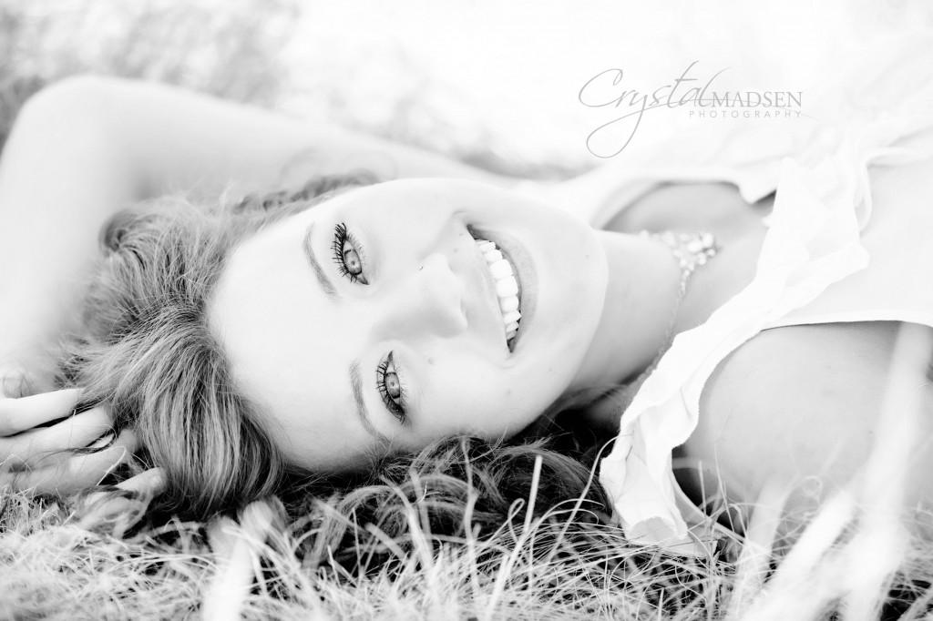 Black and White Spokane Senior Photo