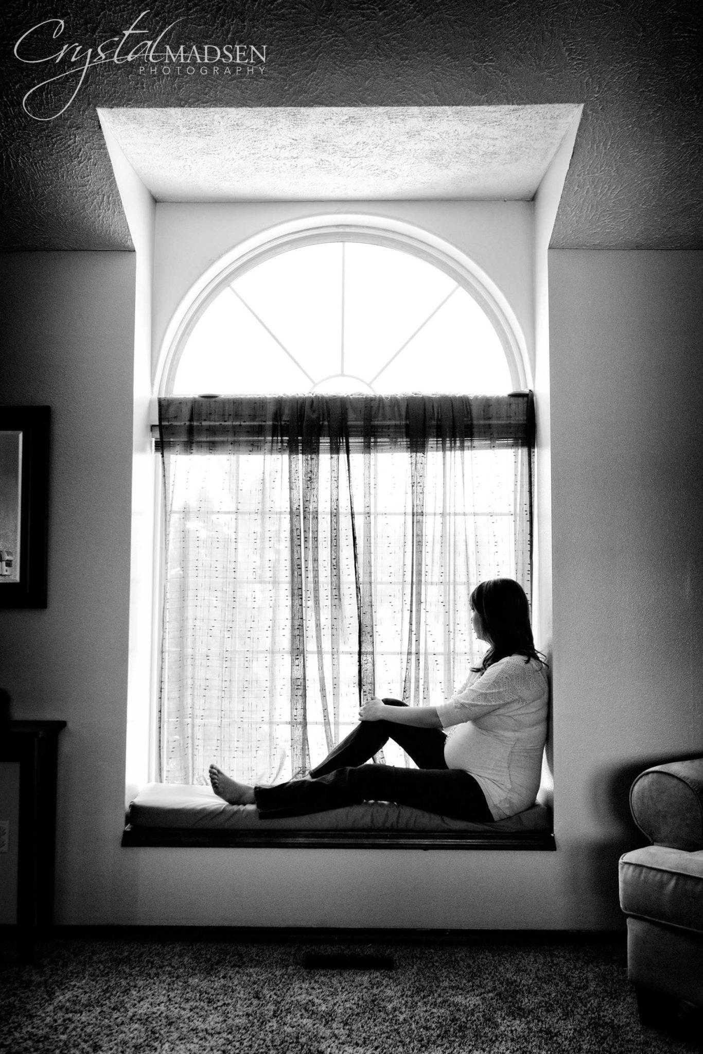 Window Maternity Photos