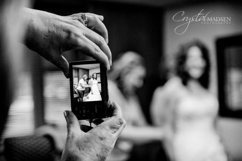 Wedding Picture of a Picture