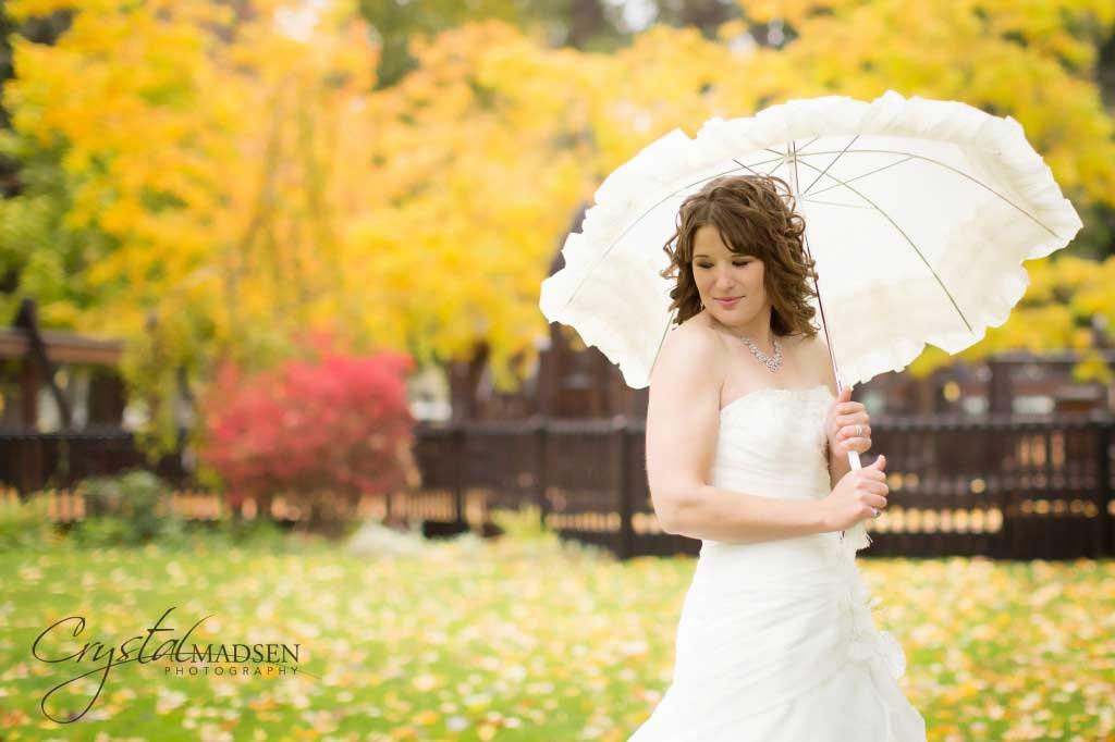Spokane Wedding Bride Umbrella