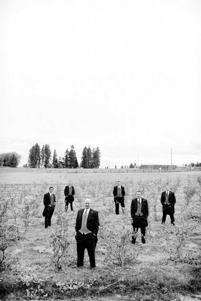 Groomsmen In a Vineyard