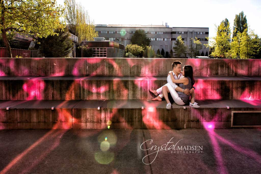 Colorful Seattle Engagement Session
