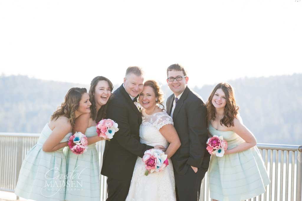 Lakeside Wedding Bridal Party