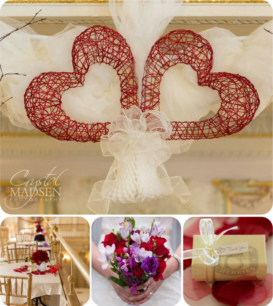 Red Valentines Day Wedding Details