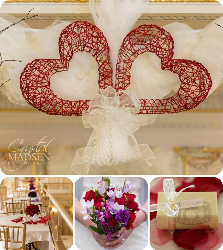 Red Valentines Day Wedding Details