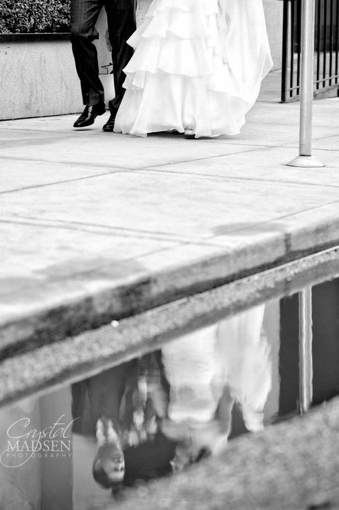 Unique Black and White Wedding Photo