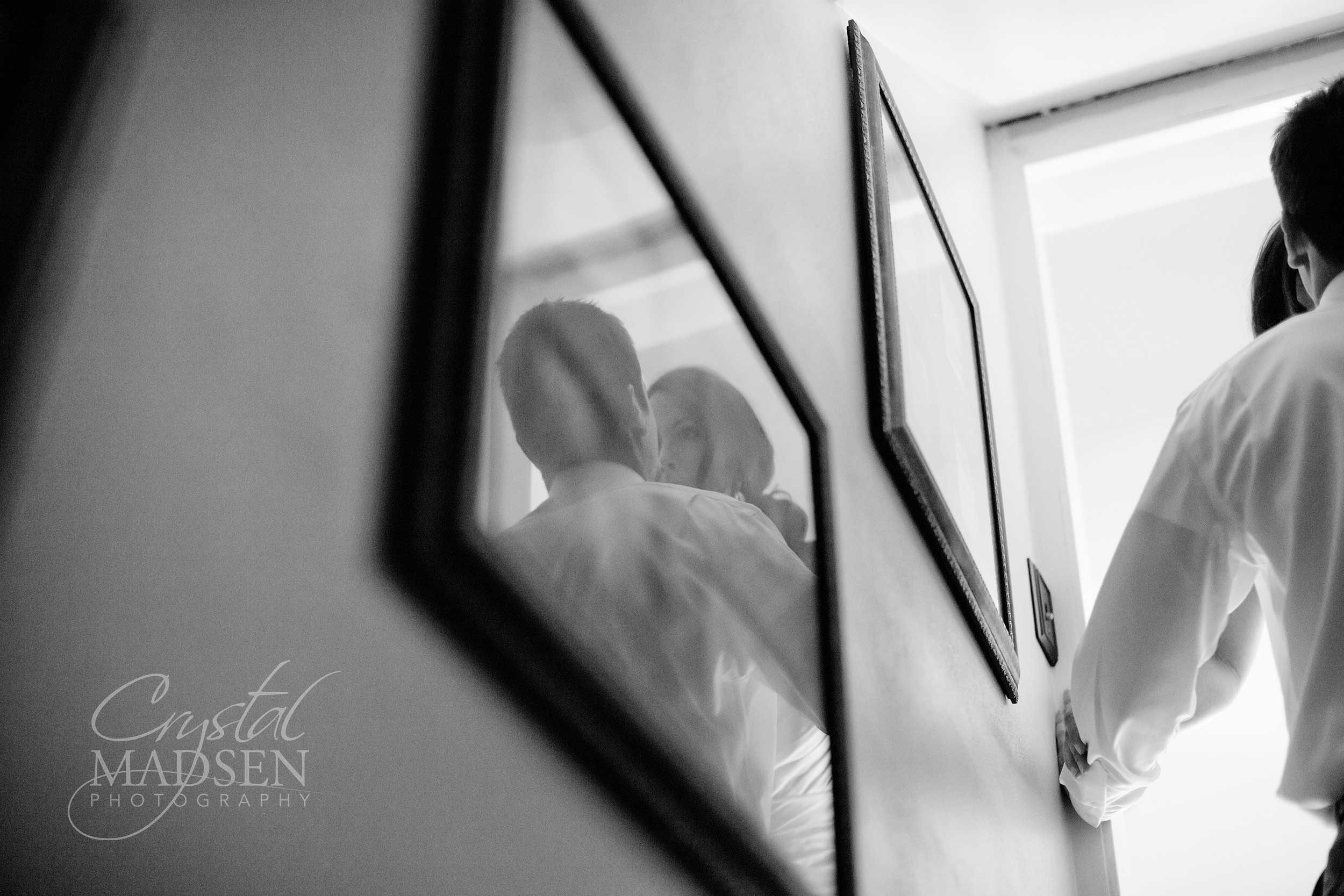 Creative Reflection wedding photo