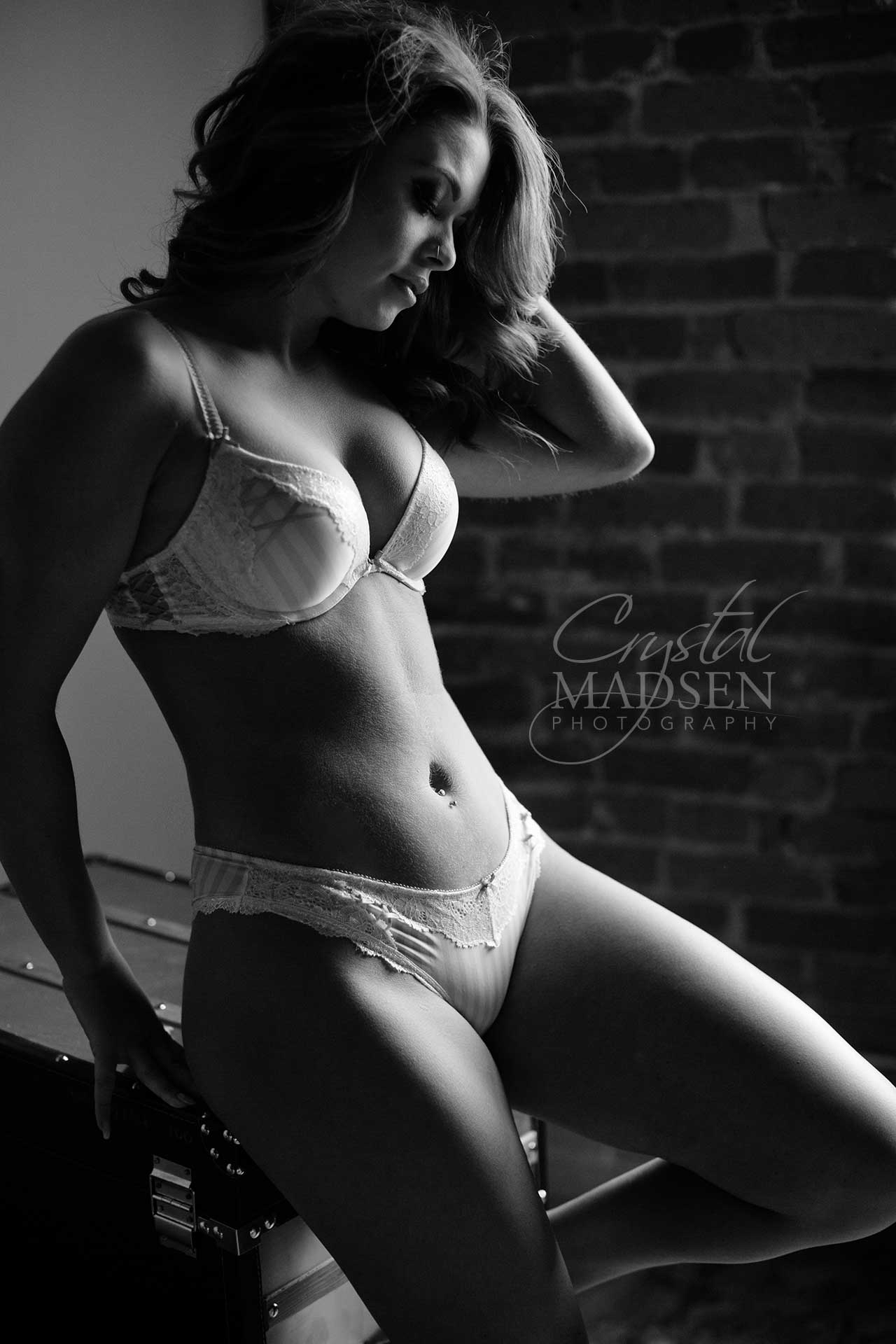 black and white boudoir spokane