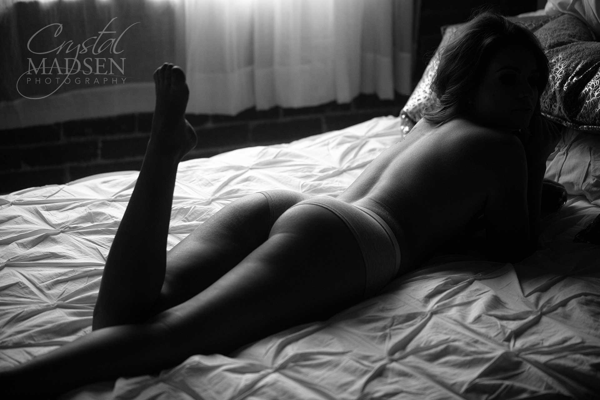 stockings boudoir Black white and