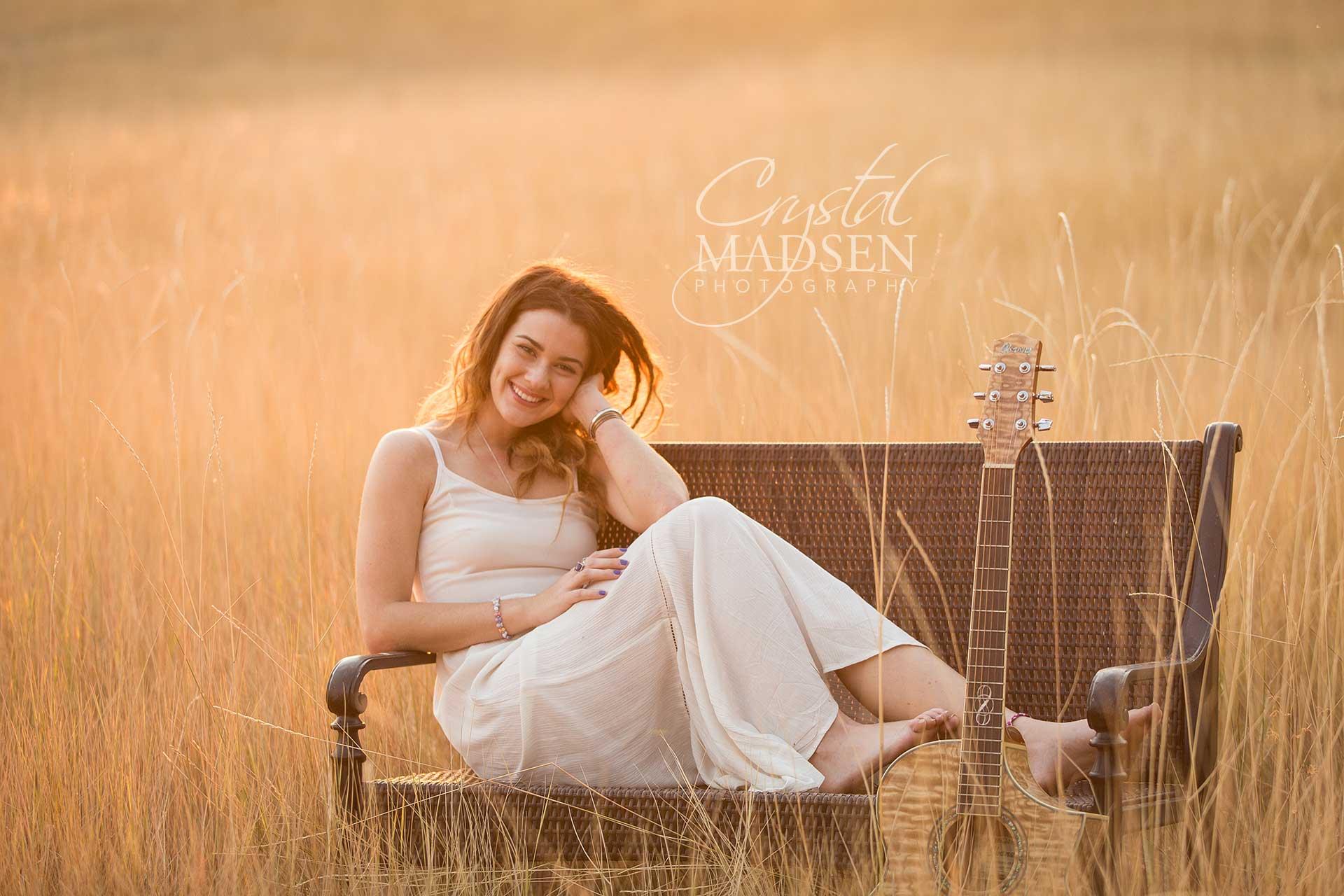 guitar senior portraits spokane