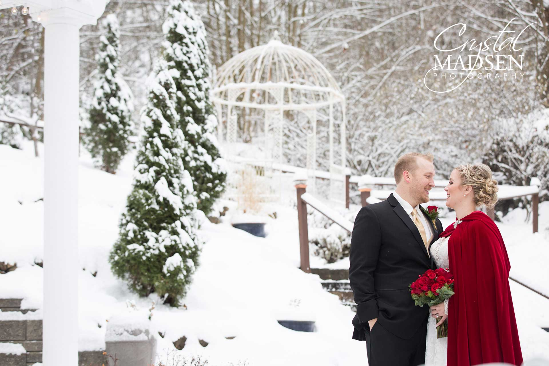 beautiful snow wedding