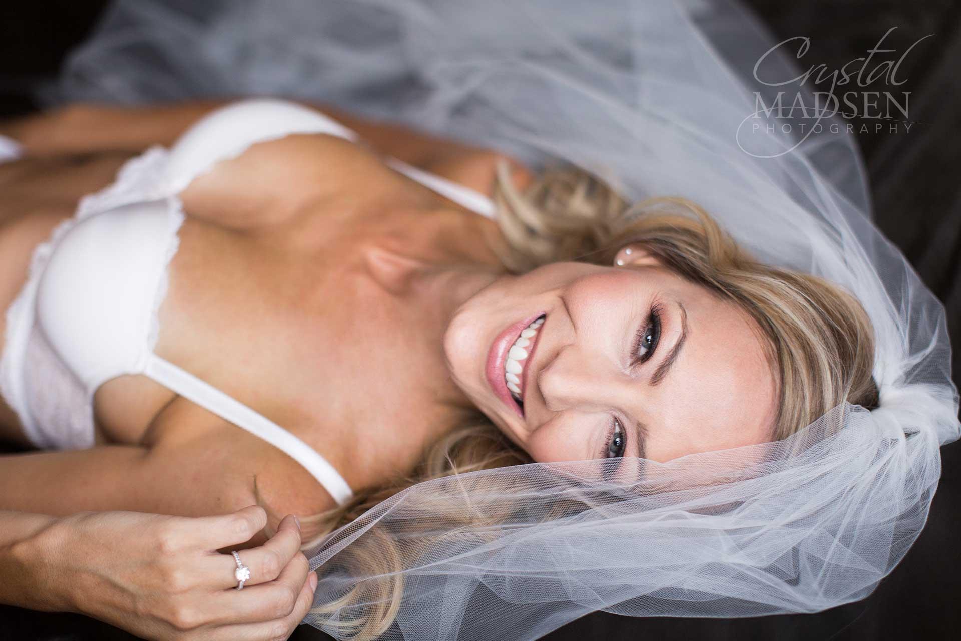 blushing sexy bride