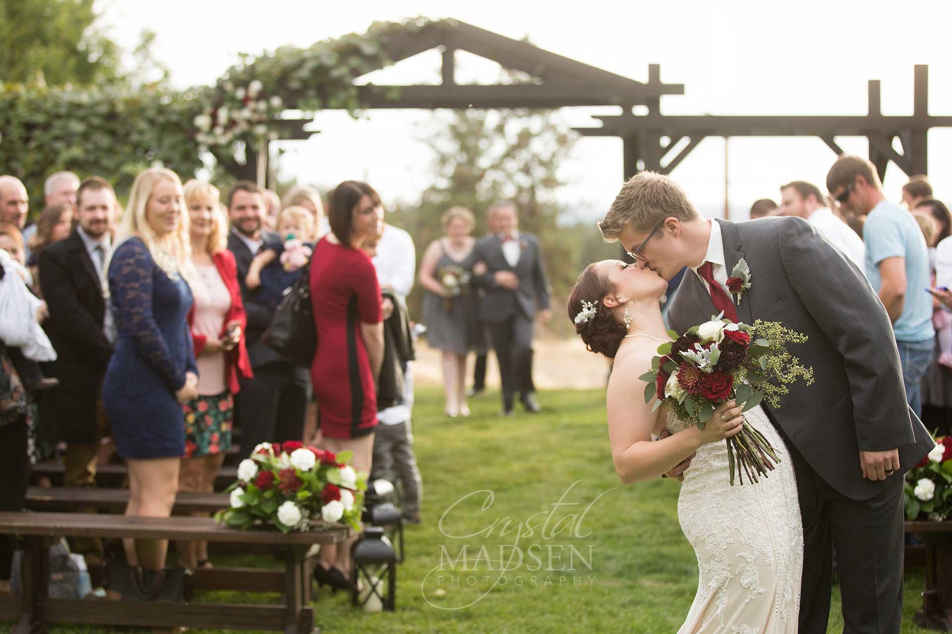 Wedding Kiss Beacon Hill