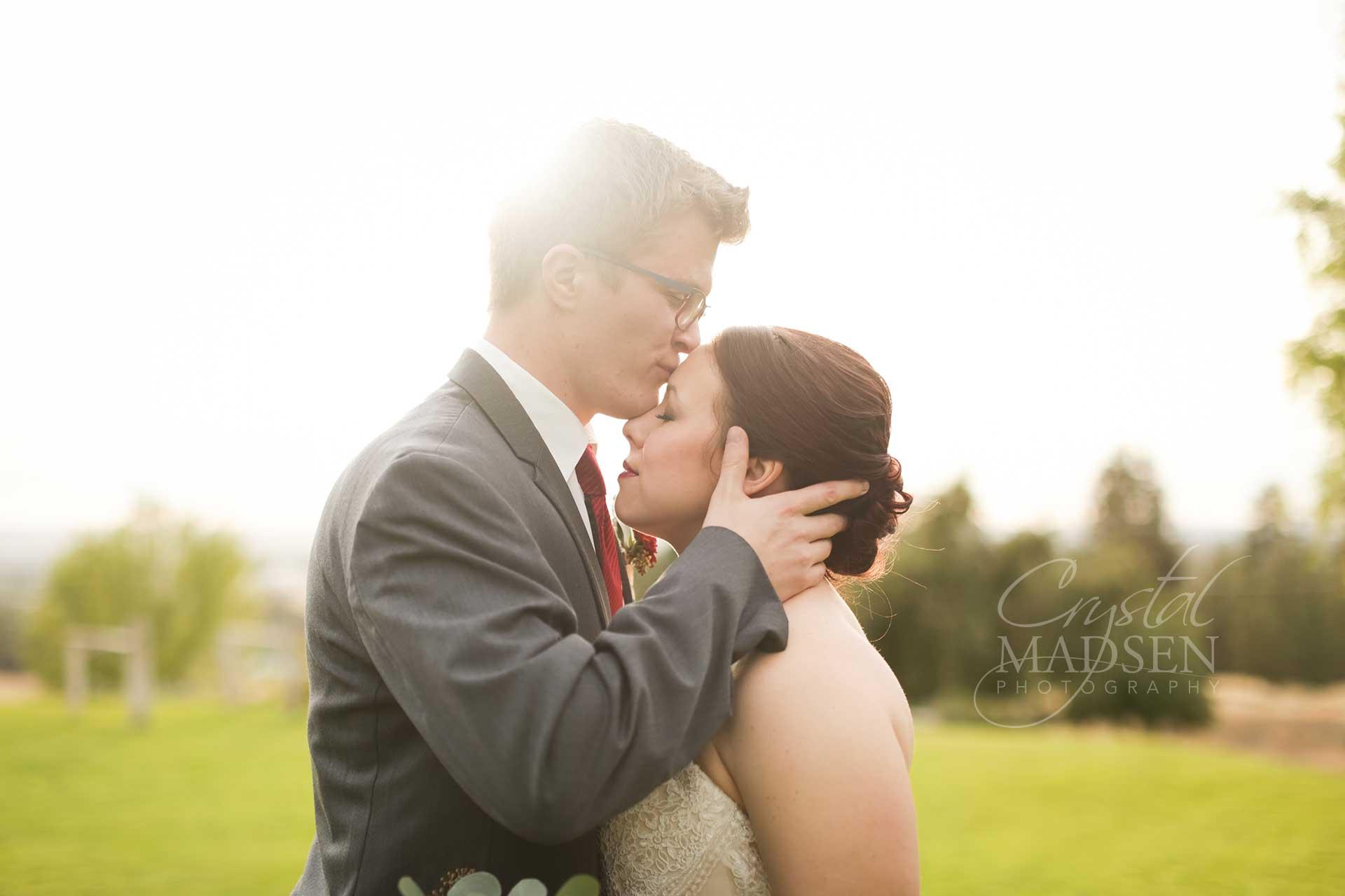Sunny wedding photo