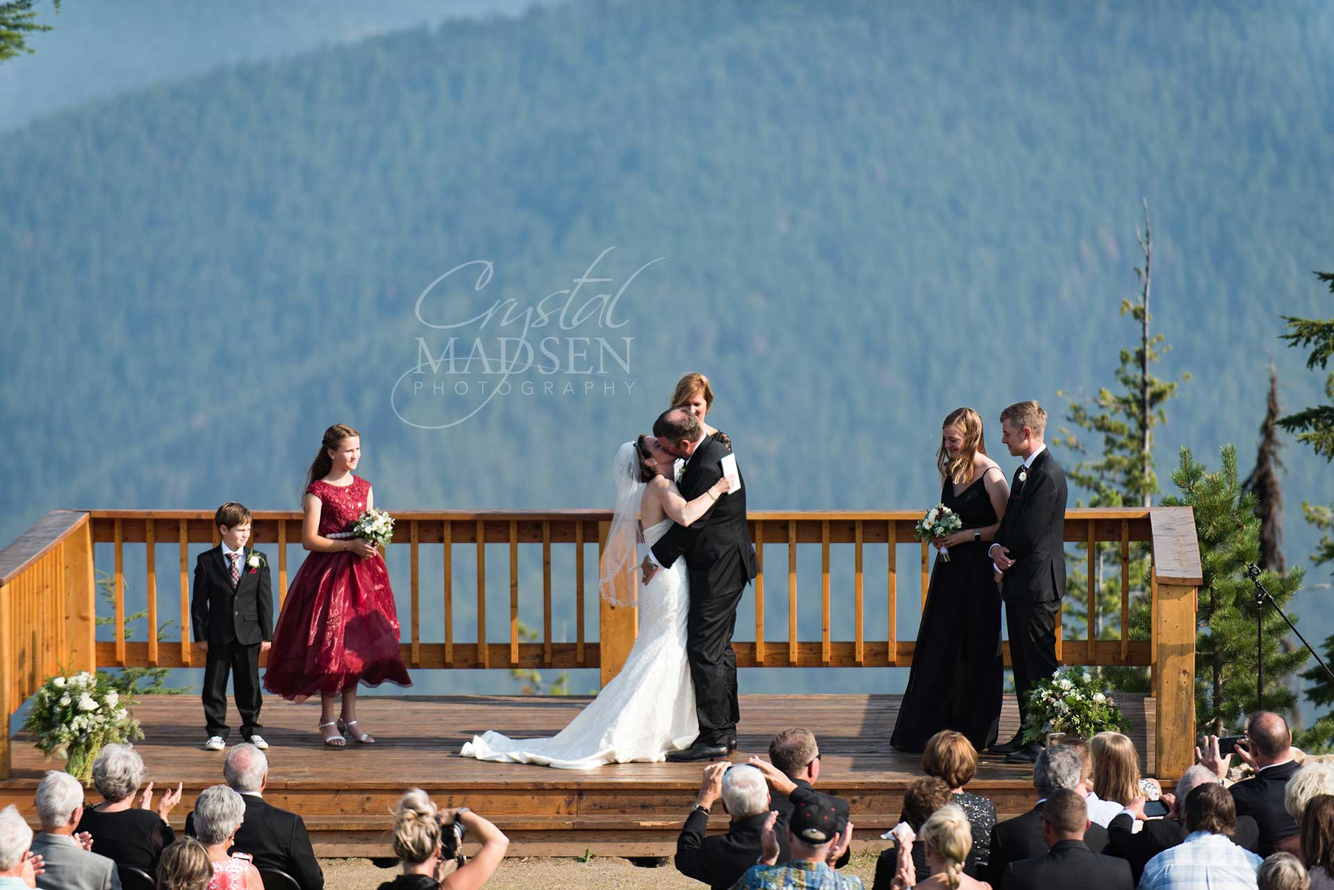 Destination summer wedding Idaho