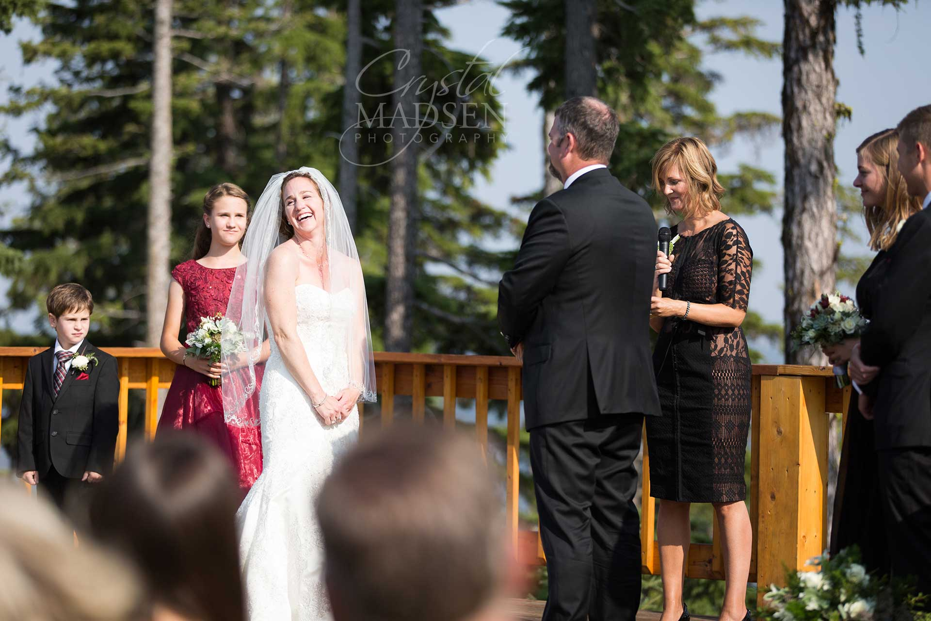 Laughing Bride at Silver Mountain
