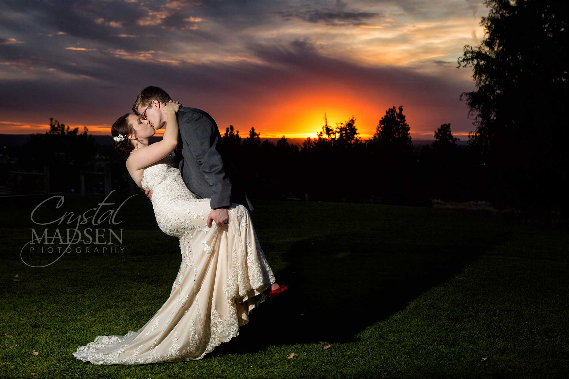 Spokane Sunset Wedding
