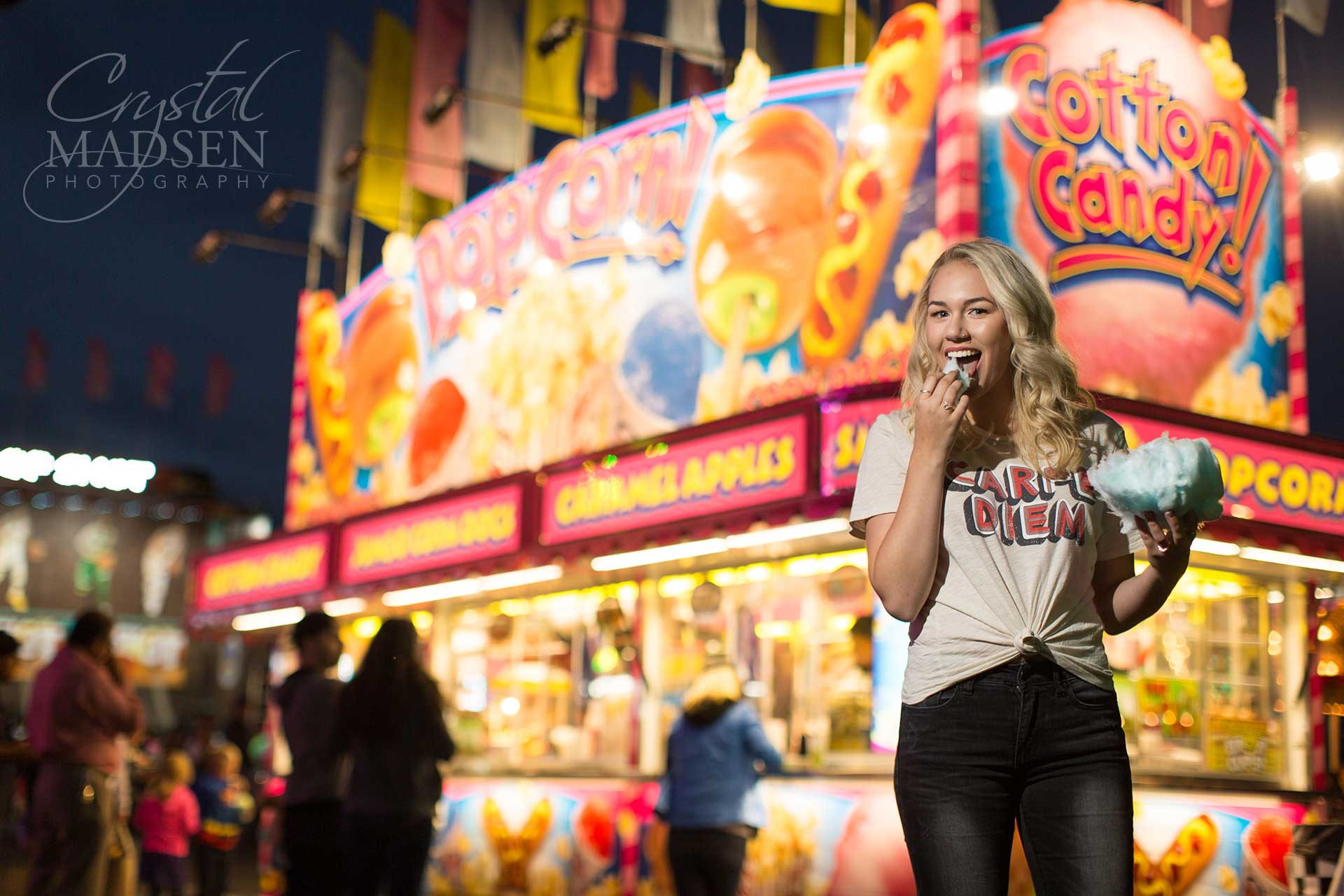 fun and colorful fair senior photos