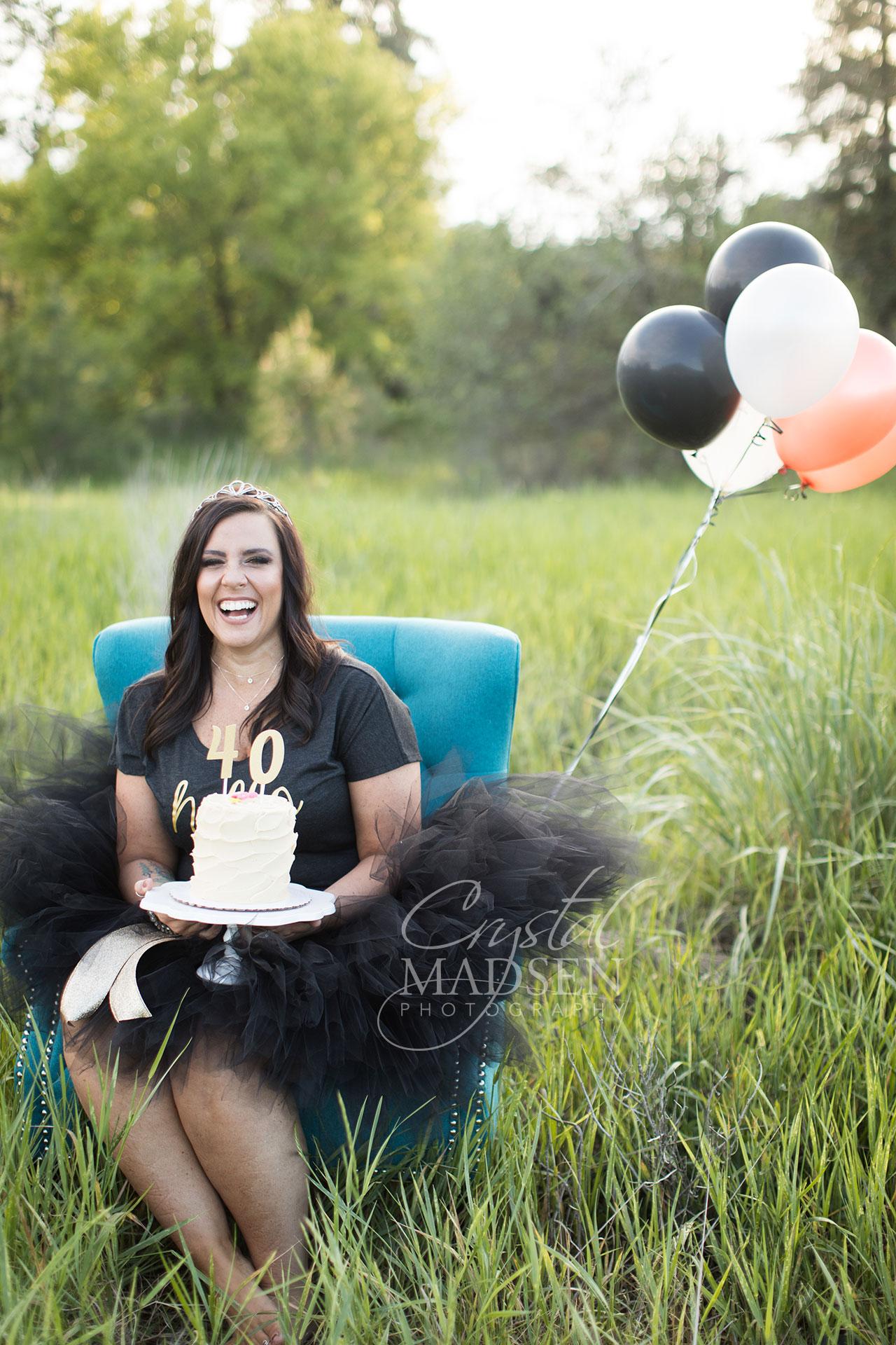 adult cake smash birthday
