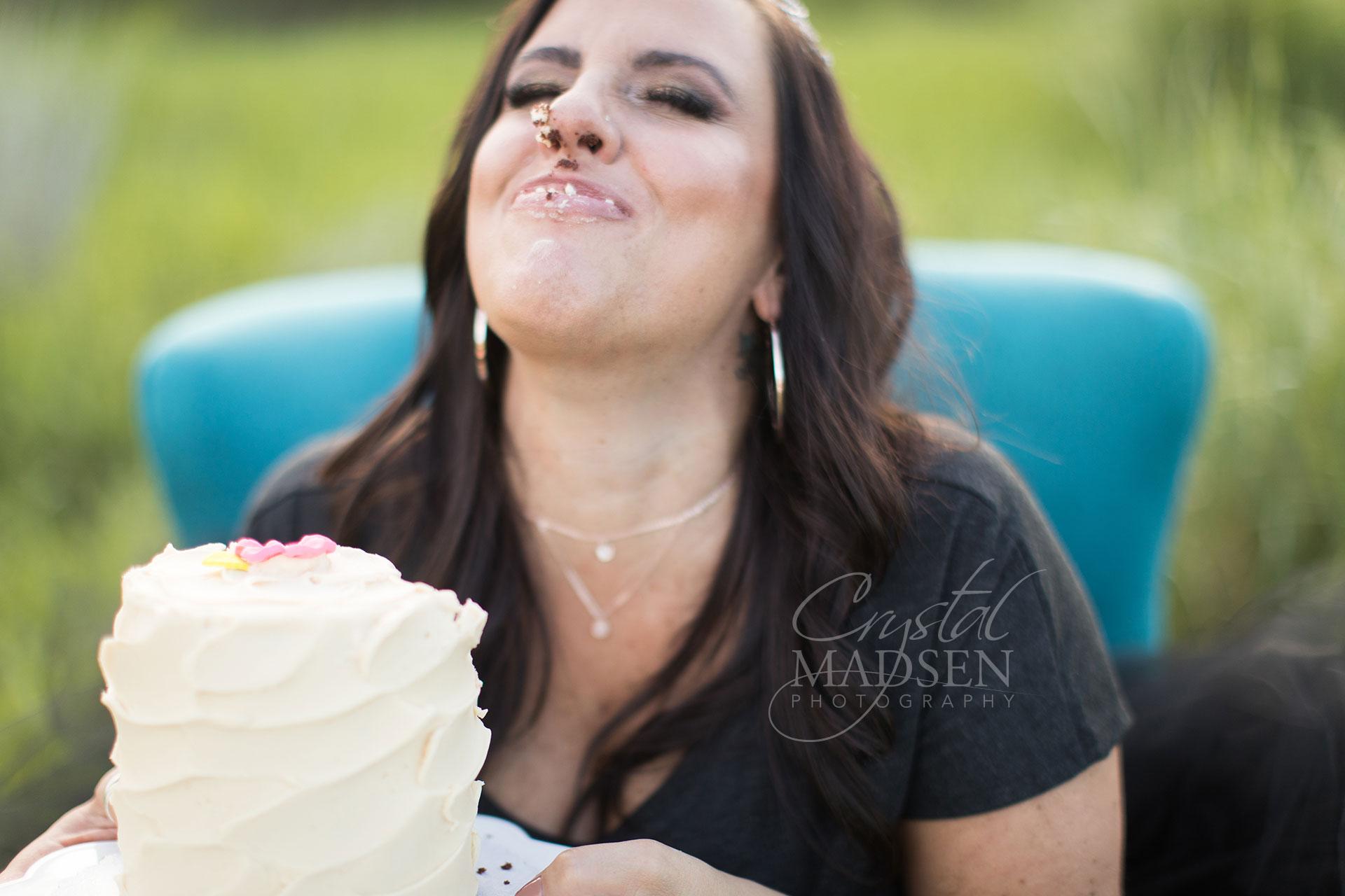 adult birthday cake smash