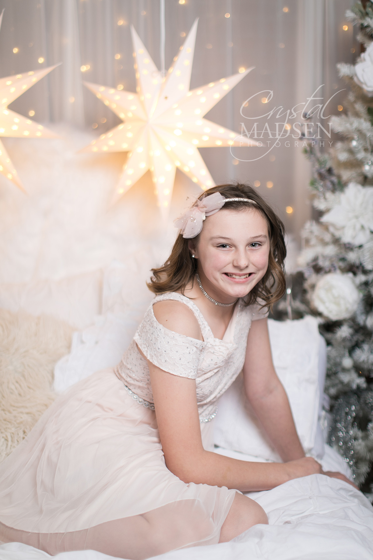 white christmas photo shoot