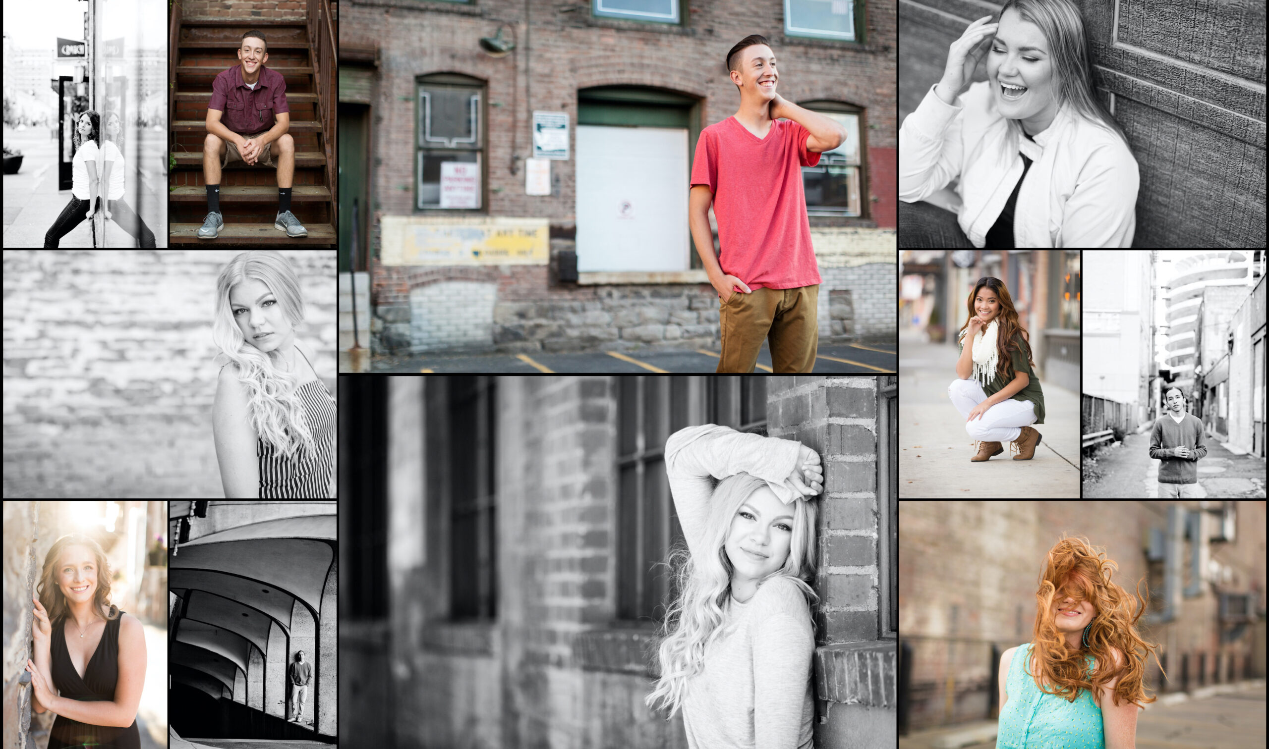 downtown urban spokane senior portraits posing workshop
